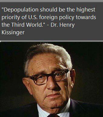 kissinger depopulation
