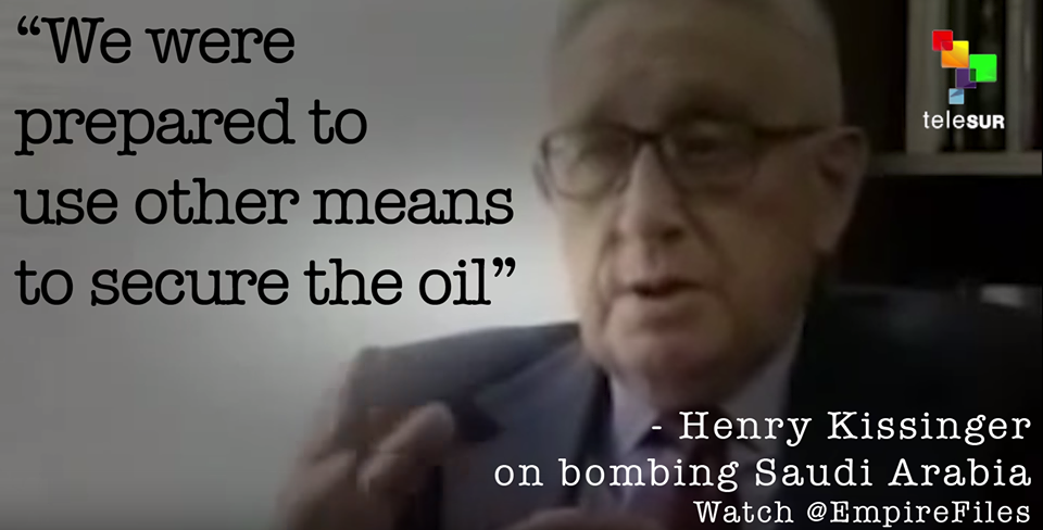 kissinger secure the oil